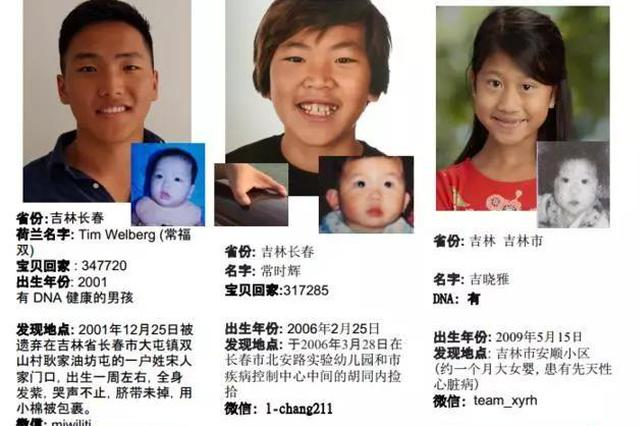 15名吉林孩子跨国寻亲 爸爸妈妈你们在哪