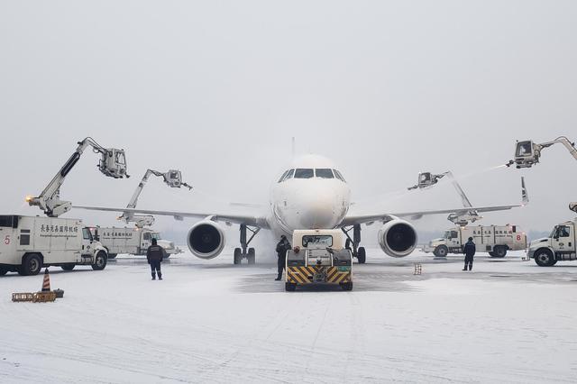 长春机场积极应对降雪 未发生大面积航班延误情况