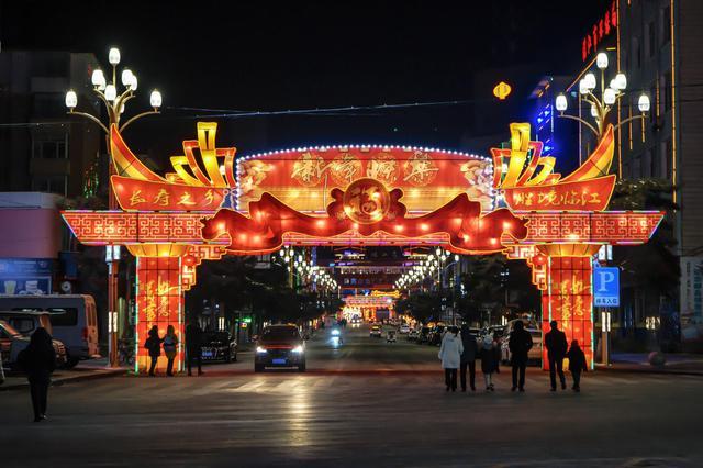 鸭绿江畔 临江夜景灯火阑珊