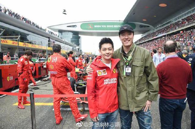 林志颖参与赛车气场强 与杨紫琼刘翔合影友谊满满