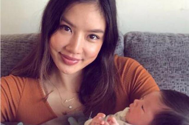 乐基儿产后晒母子合照 儿子侧颜曝光头发浓密