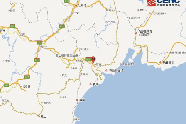 吉林珲春(疑爆)发生1.3级地震 震源深度0千米