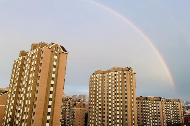 雨后长春 彩虹与晚霞齐飞