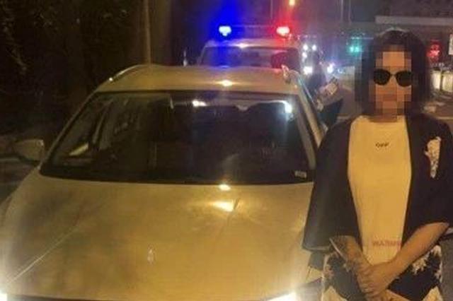 长春99后女司机酒后无证开共享汽车 被拘留并罚款4千
