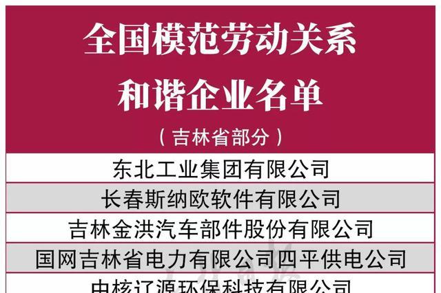 点赞!吉林省9家企业和两个工业园区受到全国表彰