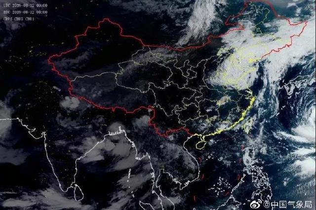 """""""利奇马""""将继续北移 吉林省发布暴雨蓝色预警"""