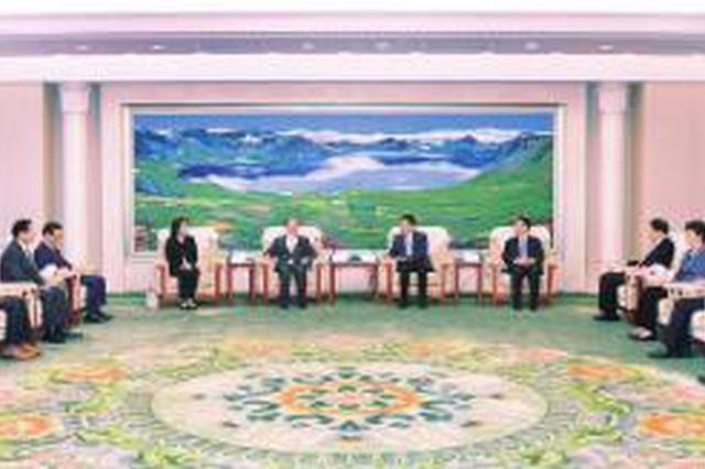 巴音朝魯景俊海會見日本中華總商會代表團