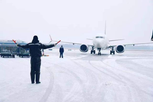 11月17日14时14分长春机场启动除冰雪预案蓝色等级