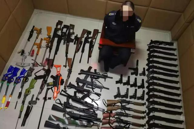吉林市警方侦破特大网络贩枪案件 缴获枪支80余支
