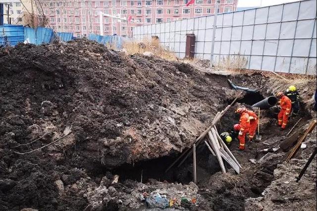 白城一管道施工工地发生坍塌 被困人员已被成功救出