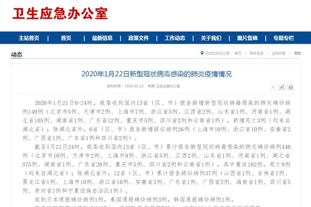 截至21日24时 吉林省发现1例疑似新型冠状病毒肺炎病例