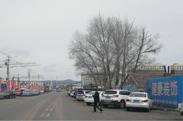 """延吉一马路经常有人占道停车 双车道""""瘦""""成单车道"""