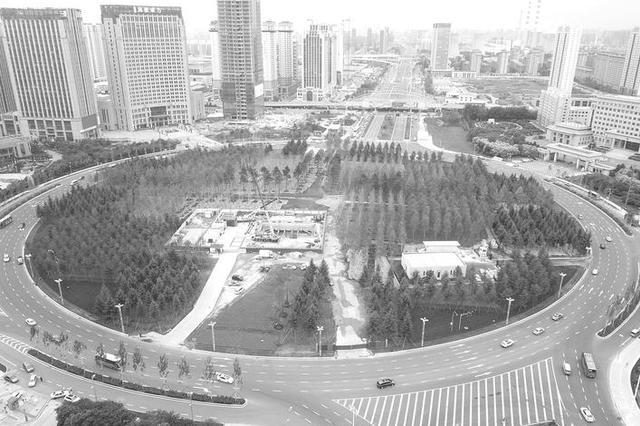 长春市东西主轴线街路提升改造中的人民广场至东盛大街段已全