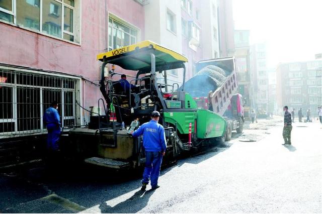 """通化市区老旧小区改造工程——""""双节""""无休 建设不停"""