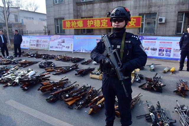 吉林省公安厅组织开展集中统一销毁非法枪爆物品活动