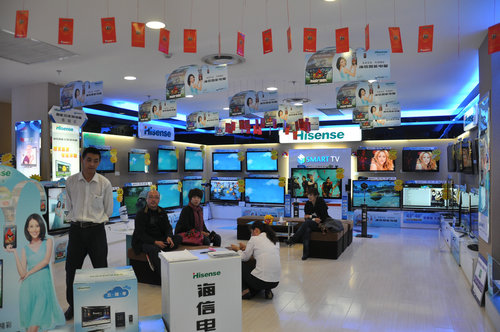 今日某商场的电视机专柜一角 (摄于2011年10月)