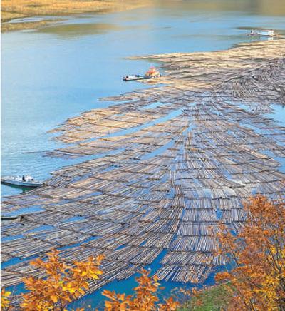 鸭绿江风光。李林摄(人民视觉)