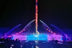 网红打卡地:净月潭喷泉水景灯光秀