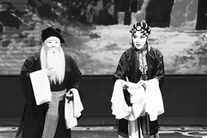 刘杨(右)精彩的吉剧表演。 石天蛟 摄