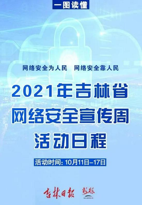 一图读懂2021年吉林省网络安全宣传周
