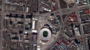 """""""吉林一号""""带您从太空看世界杯"""