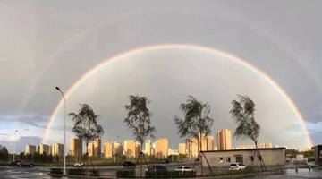 """一场阵雨之后 长春上空惊现""""双彩虹"""""""