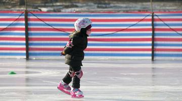 寒假 写完作业冰球场见