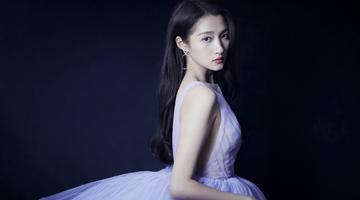 关晓彤薰衣草紫纱裙真的又仙又美