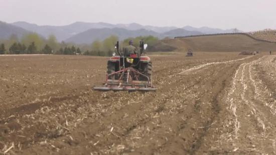 吉林省大田开始播种 全程机械化作业抢进度保质量
