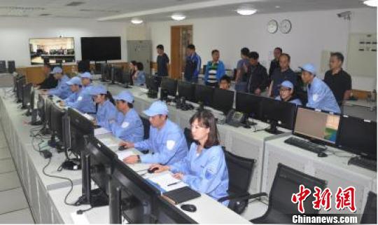 中国遥感卫星地面站密云接收站首轨接收工作现场。中科院遥感地球所 供图
