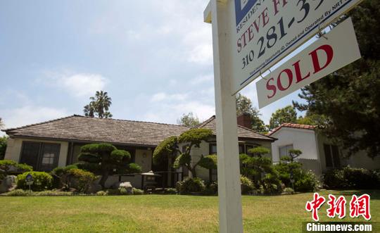 资料图:美国洛杉矶房地产。中新社发 林戈 摄