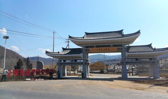 水南村新建的大门