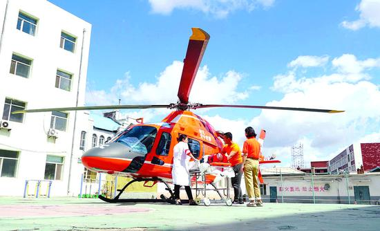 我省首架专业医疗救援构型飞机即将在长春投入使用。 孙建一 摄