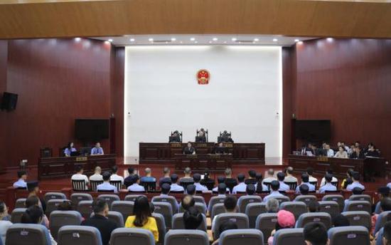 庭审现场。连云港市中级人民法院供图。