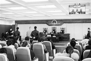 公开庭审现场。 刘连宇 摄