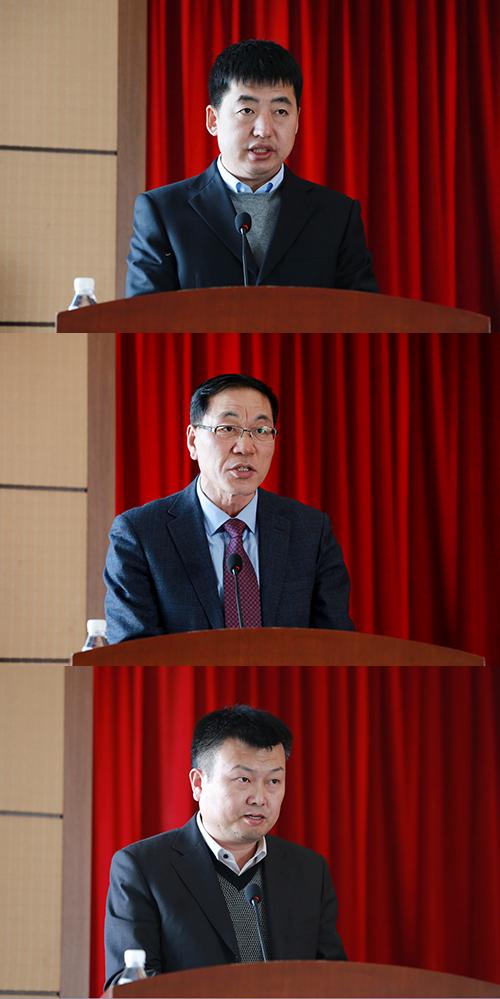 依兰镇、文广新局、旅游局主要负责人作表态发言