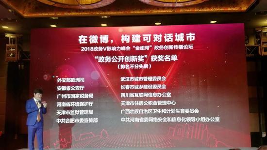 """长春市城乡建设委员会获得""""政务公开创新奖"""""""