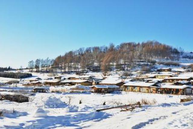 欢乐中国年吉林 长白山下木屋村落感受东北年味