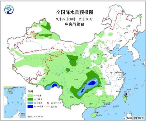 江南华南地区等地多降雨 江西东北部有暴雨或大暴雨