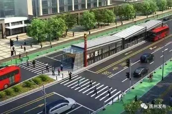 抚州BRT即将试运行 线路指引图公布