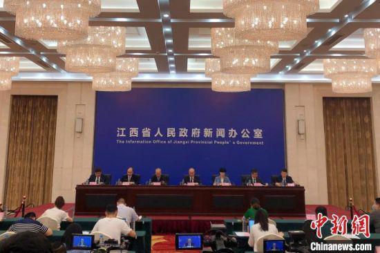 7月7日,江西省新冠肺炎疫情防控工作新闻发布会(第三十二场)在南昌举行。 吴鹏泉 摄