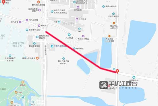 南昌市洛阳东路综合改造工程位于高新大道至京东大道之间(红线位置)