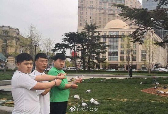 """3名男子""""分工合作""""射杀广场鸽食用 被警方拘留"""