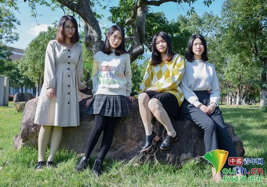 图为寝室4女生。中国青年网通讯员 叶博宁 摄