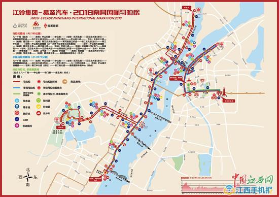 2018南昌马拉松路线图