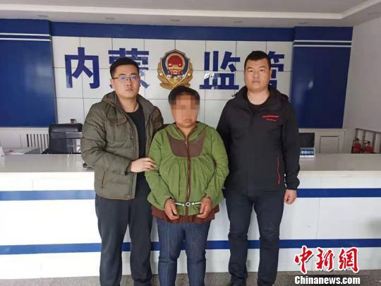 图为犯罪嫌疑人韩某被抓获。警方供图