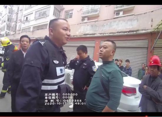 上图(左前)为朱继敏(视频截图)