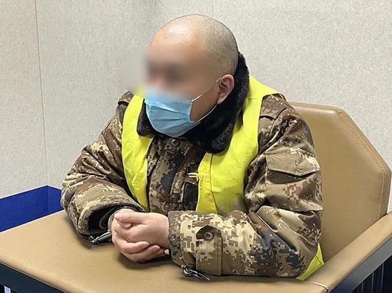 犯罪嫌疑人卫某刚。本文图片 澎湃新闻记者 陈雷柱