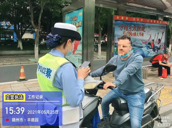 """6月1日起 赣州严查骑""""小毛驴""""不戴头盔"""