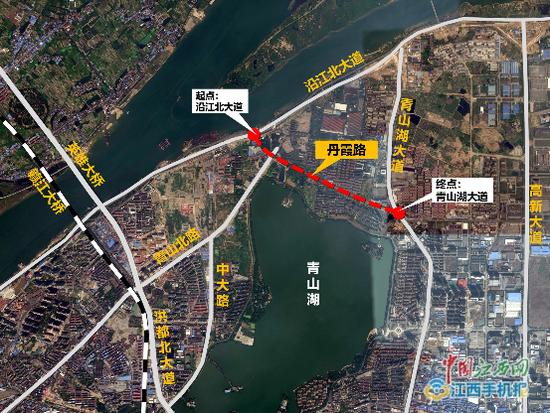 南昌将建设丹霞路 连接沿江北大道和青山湖北大道